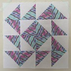 Yankee Puzzle (variation)Half Square Triangle Quilt Block
