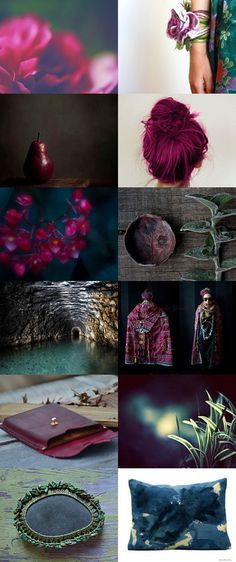 Boho Dark Magenta and Teal