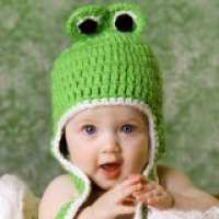 Baby hat#Melondipity Froggy Earflap Crochet Baby Hat for Boys – Handmade Green Knit Animal Frog Beanie – Sizes: 0-6, 6-12 and 12-24 – Newborn to Toddler