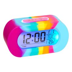 Image for Silicone Rainbow Talking Clock from Smiggle UK Unicorn Bedroom Decor, Unicorn Rooms, Little Girl Toys, Toys For Girls, Baby Girl Toys, Girl Bedroom Designs, Girls Bedroom, My Room, Girl Room