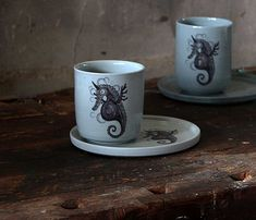 Oliot Ceramics, Mugs, Tableware, Ceramica, Pottery, Dinnerware, Tablewares, Ceramic Art, Clay Crafts
