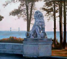 Lions Bridge, Newport News~James River Bridge in background