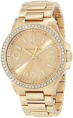Juicy Couture Women's 1900959 Jetsetter Gold Bracelet Watch