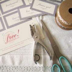 bridal party tags printable.