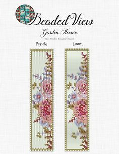 Garden Flowers Watercolor Peyote and Loom Bead Pattern  Miyuki Delicas (size 11)  Dimensions: 1.54in x 6.82in inches Colors: 11  This pattern includes both Loom or Square stitch and Peyote stitch. You are buying a pattern in PDF format. The file will be directly downloadable through Etsy. My patterns do not include instructions for loom beading, square or peyote stitch.  Pattern includes:  Color image of the pattern which can be zoomed. Bead legend with the color, name, number and quantity…