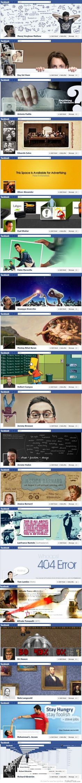 Capas criativas no Facebook