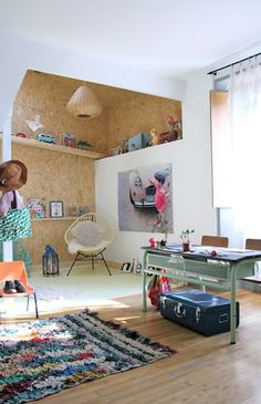 This made me think it'd maybe cool to have a whole wall with cork board ... it's not in this pic but was a thought ;-)