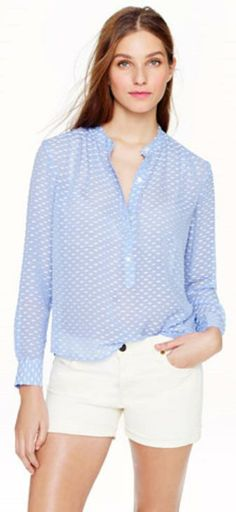 룩스리뷰  https://www.jcrew.com    Silk dash-dot blouse.  NOW $44.99