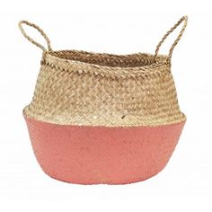 Coral Dipped Belly Basket - 42cm