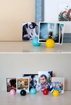 DIY Photo Balls to display photographs
