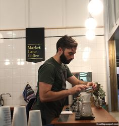 Market Lane Coffee Queen Victoria Market Melbourne by Petite Passport Queen Victoria Market, Cafe Idea, Coffee Culture, Wishful Thinking, Barista, Passport, Melbourne, Marketing, Style