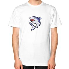 Normal Shark Design Unisex T-Shirt (on man)