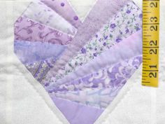 Lavender and Cream Patchwork Hearts Crib Quilt Photo 4