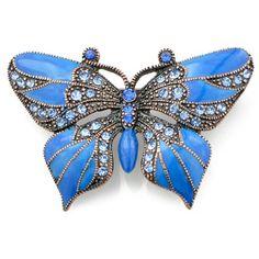 Amazon.com: Vintage Style Blue Enamel Wing Sapphire Butterfly Austrian Crystal Pin Brooch: Jewelry