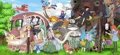 Fan des Studio Ghibli cette image est pour vous ! Un joli montage qui regroupe les films les plus populaires des studios japonais avec quelques illustrations bonus ^_^   Le site est encore en bêta-test. Merci de nous…