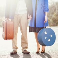 Pan Am styled 1960's engagement shoot with a gorgeous real Irish couple. #weddinggawker