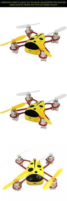 Cheerwing CHEER X1 2.4Ghz 4CH 3D Mini RC Quadcopter with Headless Mode Nano RC Drone UFO with LCD Screen Yellow #tech #technology #fpv #drone #drone #products #camera #cheerwing #plans #gadgets #parts #racing #kit #shopping