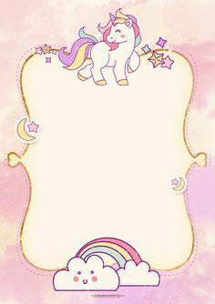 Fiesta de Unicornios: Invitaciones para Imprimir Gratis.