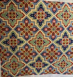 Stitched by Jamie Seed Bead Patterns, Star Patterns, Beading Patterns, Cross Stitch Borders, Cross Stitch Patterns, Cross Stitch Collection, Needlepoint Designs, Hexagon Quilt, Penny Rugs