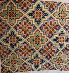 Stitched by Jamie Seed Bead Patterns, Star Patterns, Beading Patterns, Cross Stitch Borders, Cross Stitch Patterns, Needlepoint, Needlework, Bohemian Rug, Mosaic