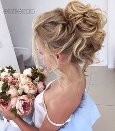 Messy Updo Hairstyles for Bridal - Wedding Hair Styles cute bridal hair styles frisuren haare hair hair long hair short Wedding Hairstyles For Long Hair, Formal Hairstyles, Bride Hairstyles, Hairstyle Ideas, Loose Hairstyles, Bridesmaid Hairstyles, Elegant Wedding Hairstyles, Hair Ideas, Night Hairstyles