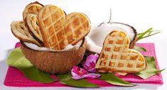 Gaufres au lait de cocoVoir la recette des Gaufres au lait de coco >>