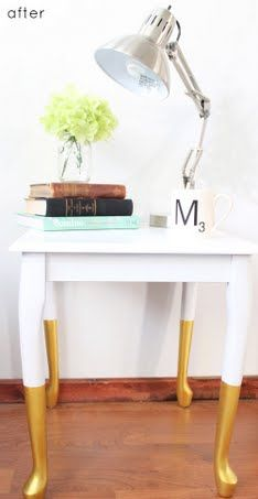 Dip dyed tables | before & after