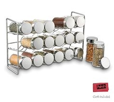 Polder /Paksh Sturdy Spice Rack Stand Storage Organizer With 18 Spice Jars Bottles, Chrome Paksh Novelty http://www.amazon.com/dp/B016QJ20RE/ref=cm_sw_r_pi_dp_xGpUwb1SSBKF7