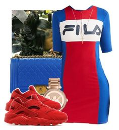"""""""Huarache 2"""" by daradior ❤ liked on Polyvore featuring Chanel, Fila, Michael Kors, NIKE and Gucci"""