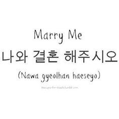 "The romanization doesn't match the phrase. It actually reads ""Na-wa gyeol-hon hae-ju-shi-oh?"""