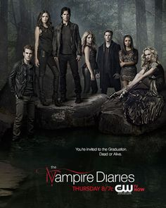 tvd graduation promo poster graduation is coming up and you re all cordially invited dead or alive