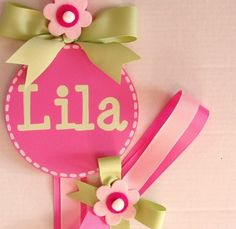 such a cute way to hang up our hair accessories.  I think Lellabella needs 3 or 4 :)  I think Lila would like one of these on her bedroom door