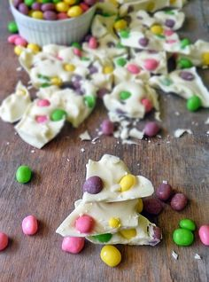 Jelly Bean Easter Bark | by Life Tastes Good is quick and easy and makes a fun treat for kids and adults alike! #Easter #Snack