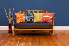 Bold Geometric Cushions - love the colors and textures