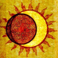 Arabesque Eclipse - by CircleArt. http://circleart.tumblr.com/post/17504836301/arabesque-eclipse-by-circleart