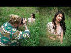 Natural Light Photoshoot in the Field, Behind The Scenes Natural Light Photography, Outdoor Photography, Beauty Photography, Photography Workshops, Photography Tutorials, Irene Rudnyk, Bts Video, Behind The Scenes, Photoshop