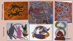 Striking similarity between two ancient art of from Differnt part of the world - Gond Painting from Central India and Aborginal Painting from Australia