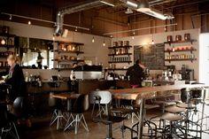 Te Aro   Leslieville: 983 Queen St. E.   Coffee Shop with good coffee, treats, atmosphere + massive patio   Te Aro