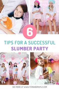 Follow these six top tips for hosting a sleepover, and it's guaranteed to be a success! Activity ideas, food ideas, decor ideas and more. Get it all now at fernandmaple.com!