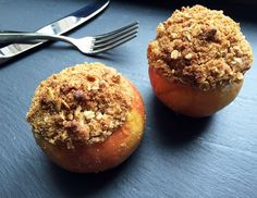 Get Alton Brown's recipe for Baked Apples. Hot from the oven, these make a great dessert, especially with a bit of sweetened cream. Breakfast is good too. Fruit Recipes, Apple Recipes, Fall Recipes, Dessert Recipes, Cooking Recipes, Wing Recipes, Sweets Recipe, Brown Recipe, Recipes