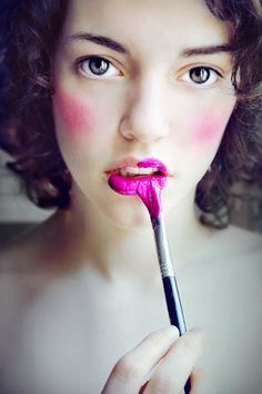 painted lips. #makeup #beauty