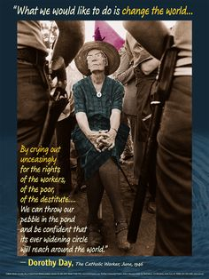 Dorothy Day - so cool and classy (colorized picture - see b/w)