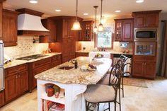 K.G. Stevens- Granite Countertops, Kitchen Countertops, Kitchen Design Ideas, Kitchen Ideas, Granite, Kitchen Island
