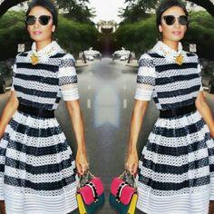 Que tal o vestido preto e branco da nova coleção da Skazy usado por Silvia Braz? Ladylike sim, mas com um twist moderninho, ele já é um dos queridinhos do nosso shop! #newin #galleristshop #shoponline