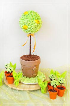 Tort antygrawitacyjny na Wielkanoc - wiosenne drzewo, więcej na stronie bloga: www.pieceacake.pl