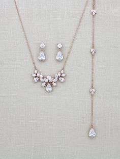 Fabulous** Crystal /& Rose Necklace Set IDEAL GIFT*76*