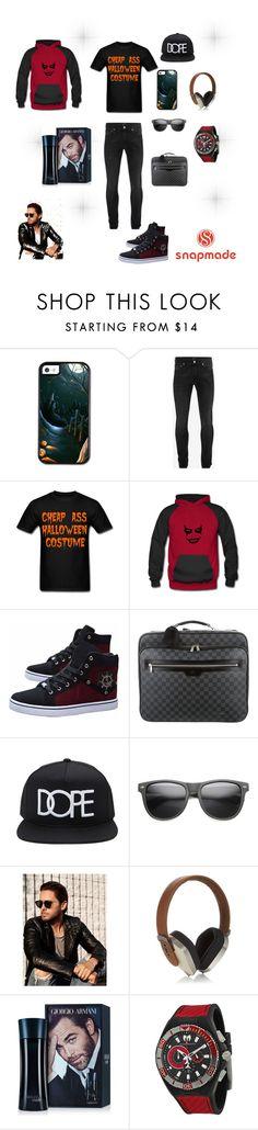 """snapmade"" by merisa-imsirovic ❤ liked on Polyvore featuring Alexander McQueen, Louis Vuitton, 21 Men, ZeroUV, Carrera, Pryma, Giorgio Armani, TechnoMarine, men's fashion and menswear"