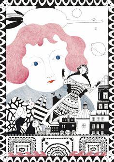 Iwona Szczepanik, Illustration, ilustracja, Kraków, folklore
