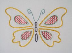 https://flic.kr/p/a4QEM5 | Flutter By : 6 | The sixth in a series of free embroidery patterns on www.kellyfletcher.co.uk