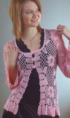Jacket of crochet motifs